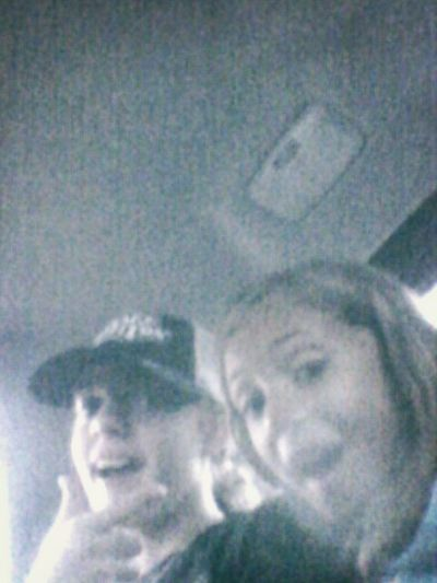 lol me and my little cousin in the car at drive thru for snow cones lol Snow Cone Boredom