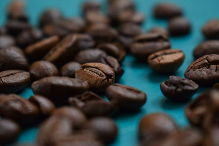 Food And Drink Close-up Indoors  Large Group Of Objects Food Table Freshness No People Day Coffee Coffee Beans Blue Art Is Everywhere