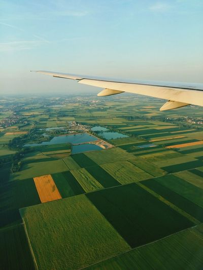 Throwback to my flight to Germany💙💙Aerial View Field Rural Scene Landscape Beauty In Nature Day Water Fromairplanewindow Fromsky Overgermany Airplaneview Photograph Photography Lovephotography  EyeEm Prettyview