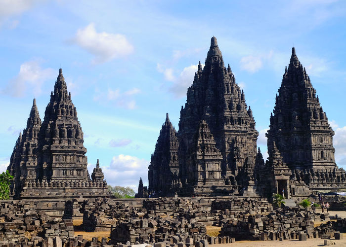 prambanan temple, Indonesia Landmark Landmarks INDONESIA Temple - Building Temple Hindhu Temple Hindhu Hindhuism Travel Tourism Tourist Nature Natural Photography Landscape Blue Blue Sky City Ancient Civilization Place Of Worship Spirituality Religion History Ancient Business Finance And Industry Sky Architecture Stupa