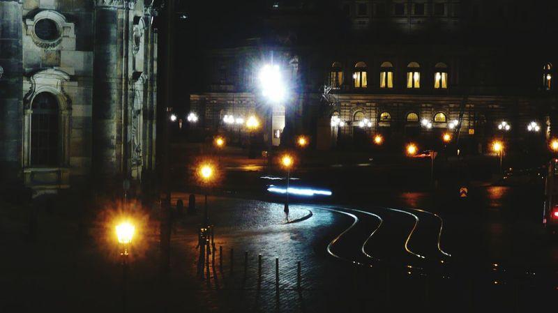 Dresden Altstadt bei Nacht