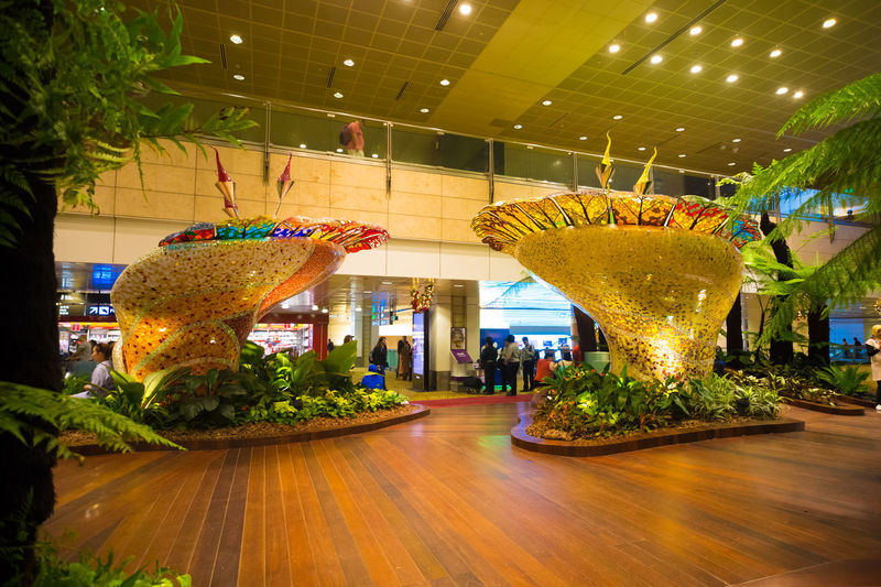 Taxfree Airport Architecture Celebration Christmas Hall Illuminated Indoors  Men Night People Tree