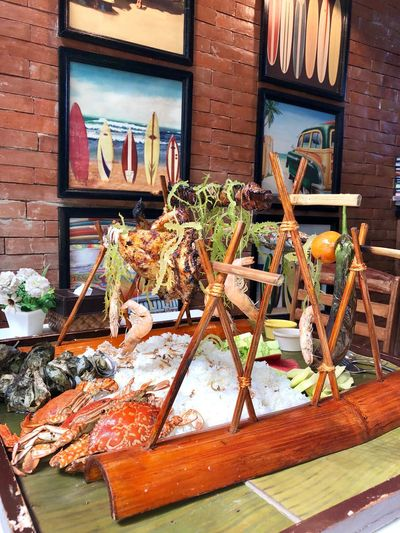 Boodle fight in the Philippines! Yummy seafoods! 😍❤️😋 BoodleFight Seafood Architecture Built Structure Building Exterior No People Day Window Wall - Building Feature