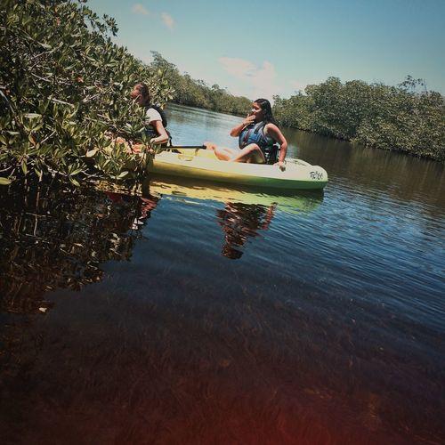 Kayaking Soaking Up The Sun Having Fun Action Green Life