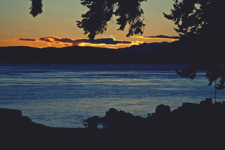 Sunset At Campbell River BC Canada Scenery Shots Scenery Mountains