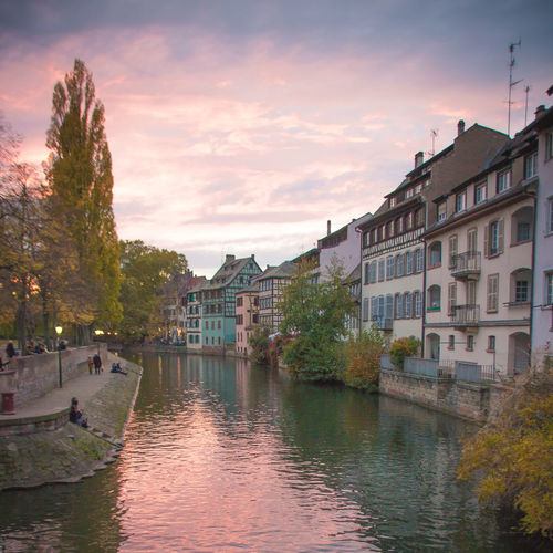 Petite France Half Timbered House Canal Reflection Cloudy Sunset Colors Warm Colors Old Buildings Old City Typical Alsace Water Building Exterior Architecture Sky Tree Built Structure Plant Cloud - Sky Nature Waterfront Building Residential District No People City Outdoors River Day