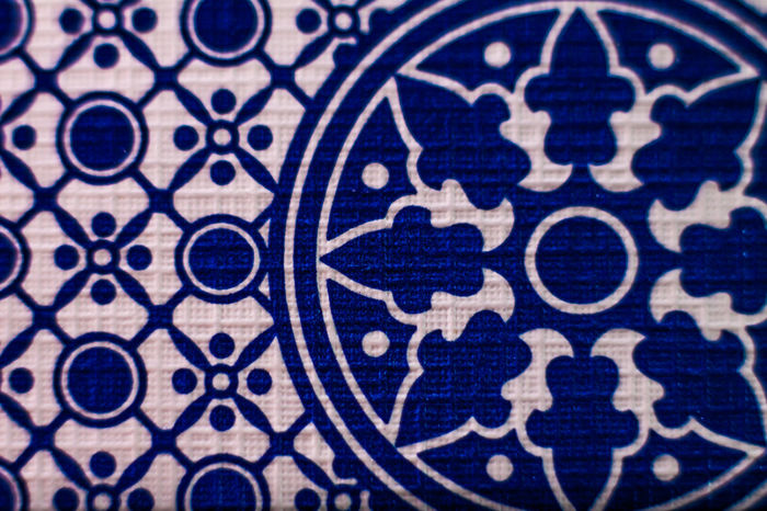 Backgrounds Blue Card Close-up Design Full Frame No People Pattern Quilted Texture