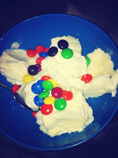 Ice Cream With M&M's #yummy #icecream #in #icy #weather
