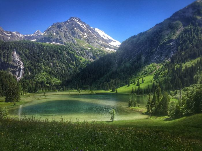 Nature Switzerland Nature Photography See Lauenensee View Landscape