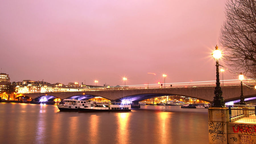 LONDON❤ River Thames Bridge Girly Modesty Travel Cities At Night Holiday♡ Nature's Diversities Bueaty In Nature