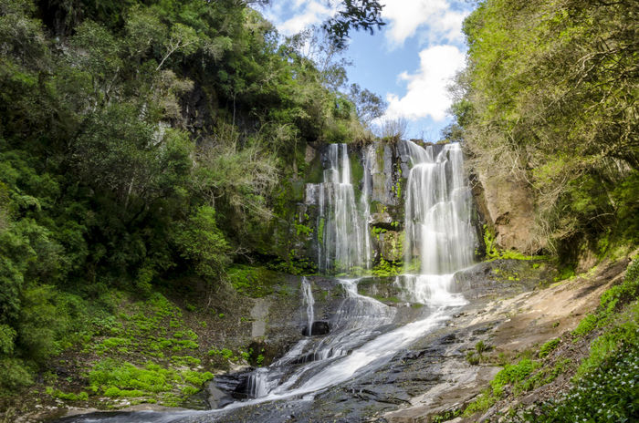 Waterfall in the countryside Beauty In Nature Day Freshness Motion Nature Outdoors Scenics Travel Destinations Vacations Water Waterfall Wet