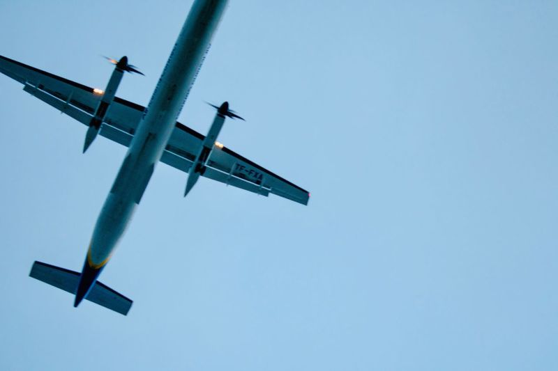 Airplane Belly Overhead Photography Overhead View Overhead Overhead Shot Aircraft Low Flying Low Flying Plane Low Flying Aircraft Airplane Sky Low Angle View Clear Sky Nature No People Day Blue Outdoors Transportation Air Vehicle
