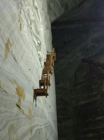 Low Angle View No People Built Structure Mine Saltmine  Stairs
