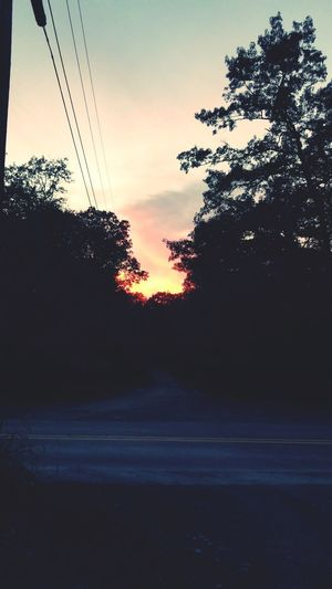 I'm holding on to every summer moment like it's my last 💛☀️ Sunshine Outside Outdoors Outdoor Photography EyeEmNewHere Nature Shesgotnature Redsun Sunlight Summertime Lastofsummer Falliscoming Paintedsky RedSky Sunset #Road #tree Tree Sunset Silhouette Rural Scene Sky Telephone Line Telephone Pole Power Line