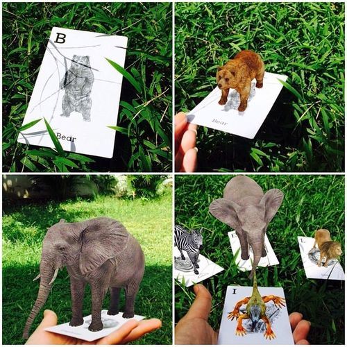 Animal 4D+ in action.. My Work Hello World Augmented Reality