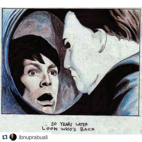 Repost @ibnuprabuali with @repostapp ・・・ Instasize Art Illustration Drawing Draw Picture Photography Artist Sketch Sketchbook Paper Pen Pencil Artsy Instaart Gallery Masterpiece Creative Instaartist Graphic Graphics Artoftheday Halloween Michaelmyers sister psycho horrormovie serialkiller
