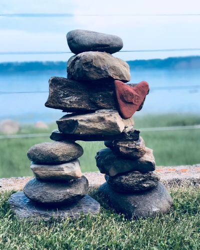 Inuksuk Inukshuk Heart ❤ Stack Balance Day Nature Focus On Foreground No People Sky Close-up Outdoors Land Water Stone - Object Grass Beach Sea Solid Plant Stone Tranquility Pebble 10