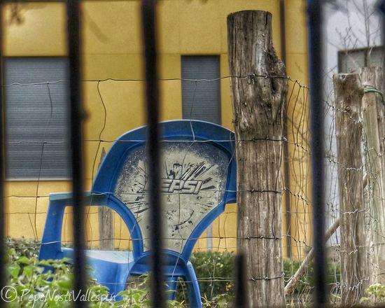 Chair Outdoors No People Pola De Siero Poladesiero Outdoor Photography Window