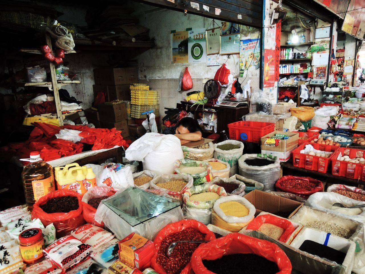 VIEW OF FOOD FOR SALE AT MARKET