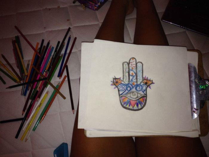Drawing Hamsa Goodfortune Art