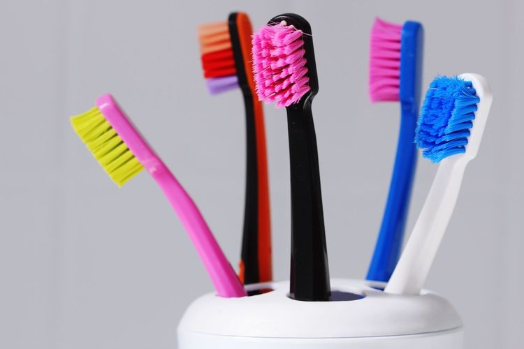 Popular Toothbrush Tooth Teeth Toothbrushes Family Colors Colorful Color Portrait Hello World Dentist Dentistry Taking Photos Macro Photography Macro Macro_collection Dental Clinic Dental Dental Student Hygiene