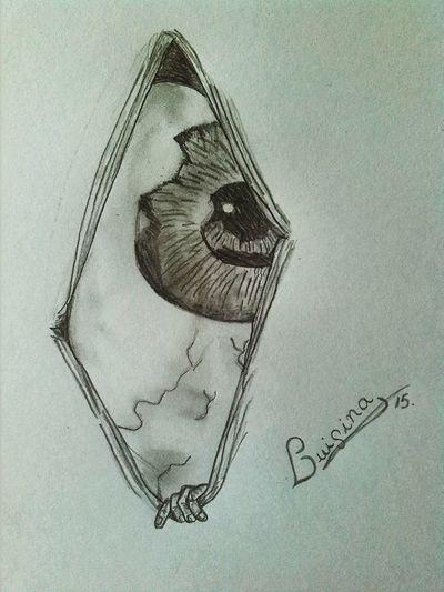 Me gusta simular que no te miro. Autor: Luisina ©Eyes Mirada De Arte Mirada. My Draw ♥ Drawing ✏ Drawing Drawings Art, Drawing, Creativity