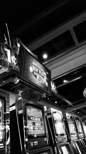 At the casino again. 8-22-14 Gambling Casino Black & White Money Money Money