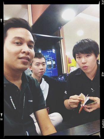 with my frend