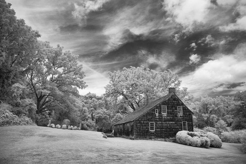 Brewster House - circa 1665 Infrared Infrared Photography Monochrome Blackandwhite Architecture_bw Colonial Architecture Long Island Old House Old Houses FUJIFILM X-T1 Fuji X-T1
