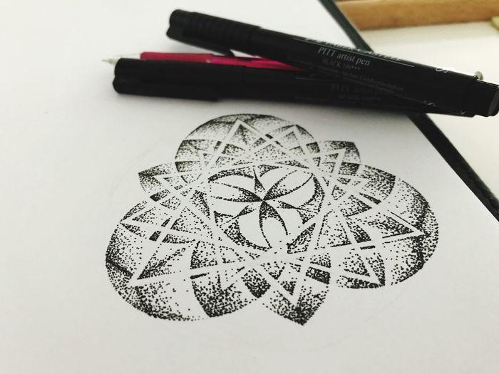 No People Close-up Paper White Background Indoors  Chance Drawing Tattoo Tattoo Design Kimmisch Art Dotwork Sketch Kimmisch Inkt