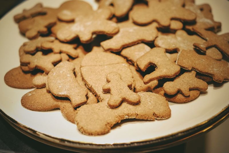 EyeEm Selects Cookie Baked Food And Drink Food Sweet Food Freshness Christmas Plate Shape Close-up No People