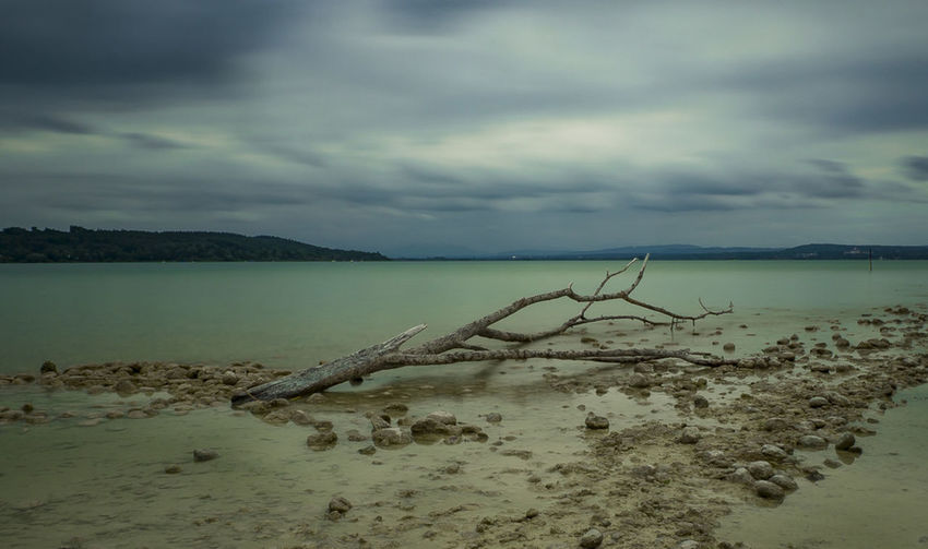 EyeEm EyeEm Best Shots EyeEm Nature Lover Lakeview Stormy Weather Ammersee Beach Beauty In Nature Cloud - Sky Clouds And Sky Day Eye4photography  Horizon Over Water Landscape Nature No People Outdoors Sand Scenics Sea Sky Storm Cloud Tranquil Scene Tranquility Water