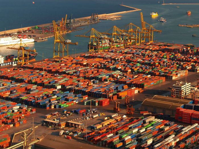 Architecture Business Cargo Container Commercial Dock Container Crane - Construction Machinery Freight Transportation Harbor High Angle View Industry Machinery Mode Of Transportation Nature Nautical Vessel No People Outdoors Pier Sea Shipping  Shipyard Transportation Trucking Water