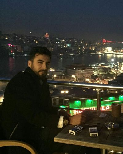 Istanbul Turkey Two People Night Kahvebahane :-D