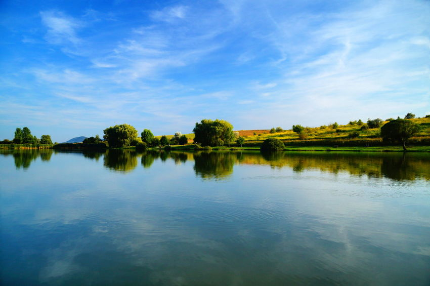 Blue all around - summer lake Relaxing Water Reflections Beauty In Nature Blue Blue Sky Cloud - Sky Day Lake Nature No People Outdoors Pilis Pilisszántó Reflection Scenics Sky Tranquil Scene Tranquility Tree Water Waterfront