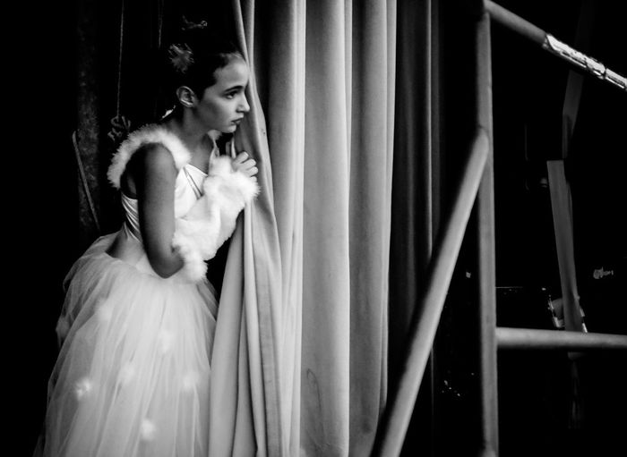 Backstage Ballet Blackandwhite Blackandwhite Photography Dance Dancers Lifestyles Portrait Of A Woman Stagephotography Waiting Women First Eyeem Photo