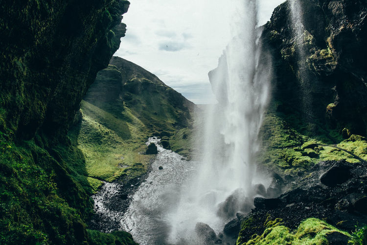 Iceland Beauty In Nature Day Motion Nature No People Outdoors Power In Nature Rock Scenics Sky Tranquil Scene Water Waterfall