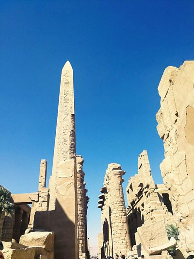 Egypt Egyptphotography Luxor Travelegypt Luxor,Egypt Luxor_temple Old Ruin Ancient Clear Sky History Architecture Desert Ancient Civilization Outdoors Blue Built Structure Travel Destinations