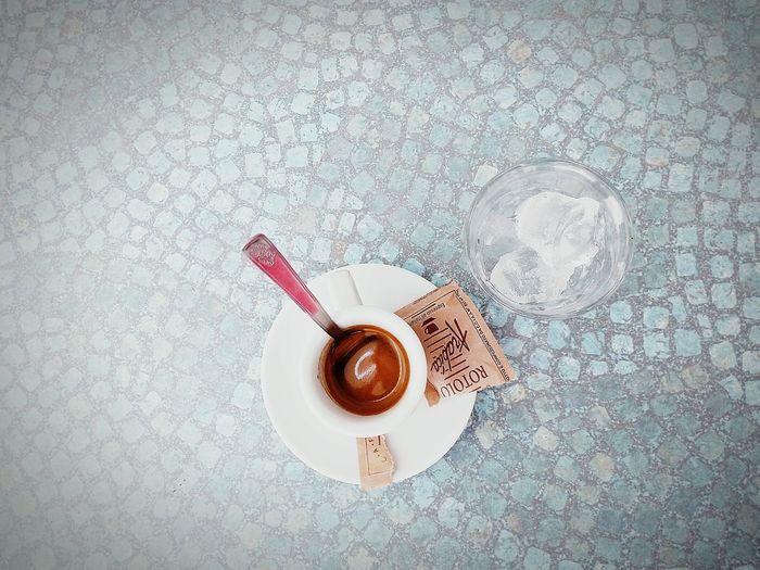 Coffee Time Caffè Blue Mosaic Table Sugar Zucchero Ice Coffee And Ice Ghiaccio Coffee Break Pause Pause Cafe Pausa Pausa Caffe