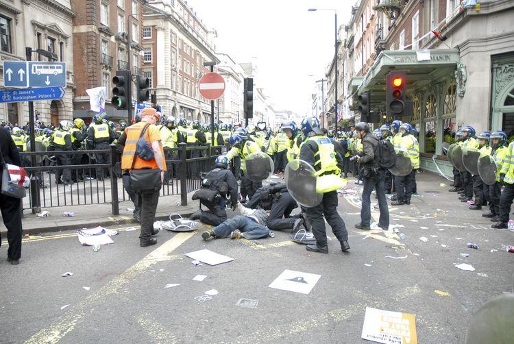 The aftermath. U.K. Uncut Riot