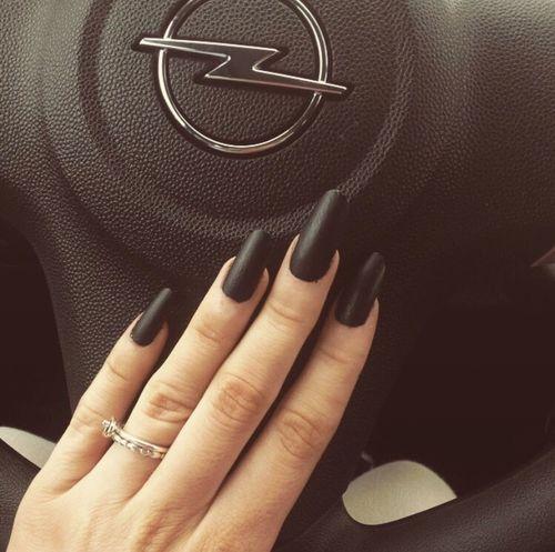Matteblack Nails Carporn Nailart  Blacknails  Love