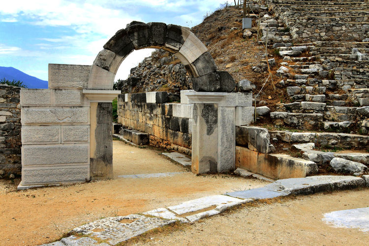 Archway at archaeological site