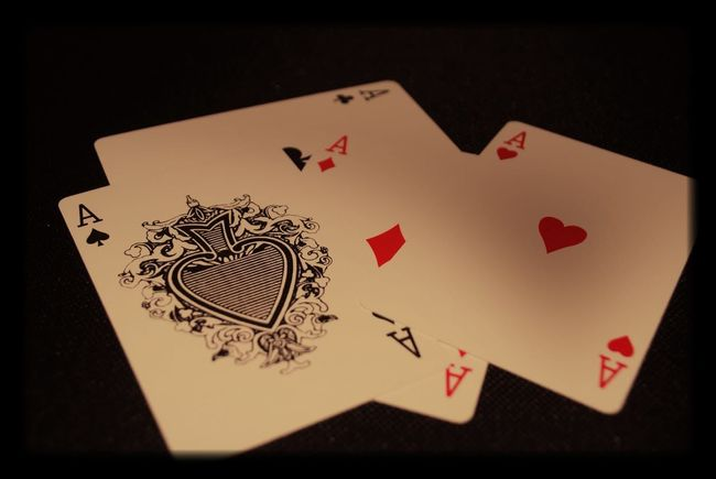 Cards Heart Shape Luck Studio Shot Gambling Paper Indoors