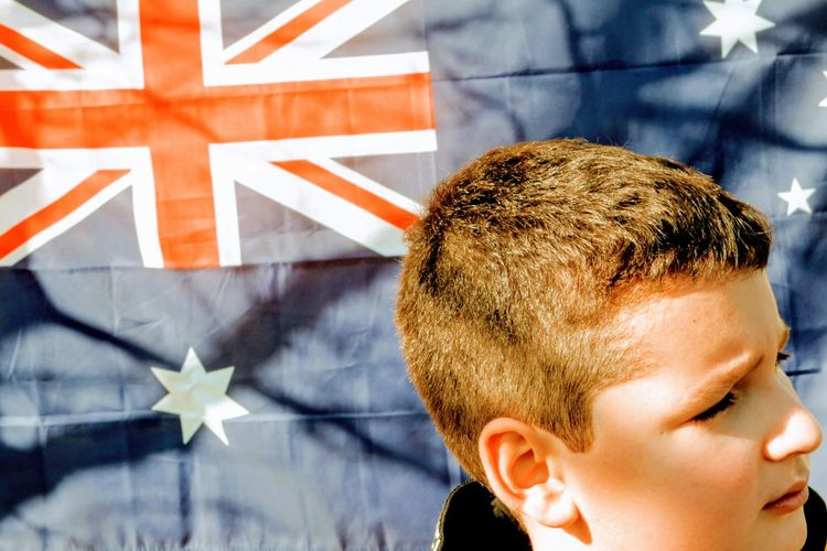 Close-up portrait of boy