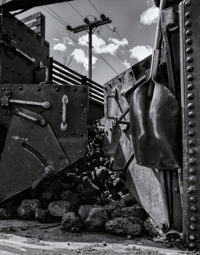Coal In Open Air Train Wagon