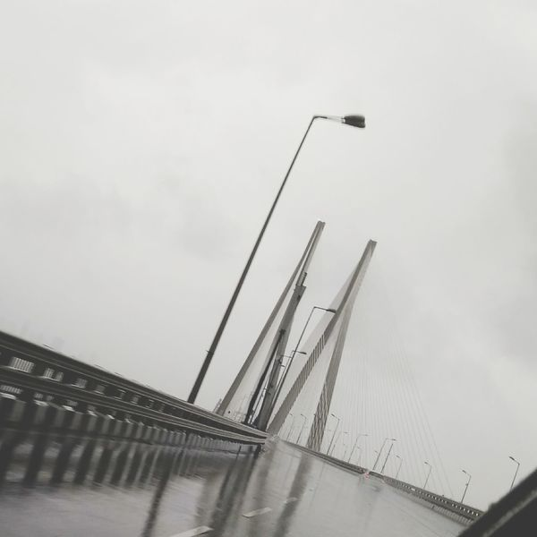 Foggy Sealink Water Sky Cloud - Sky Architecture Bridge - Man Made Structure Built Structure Cable City