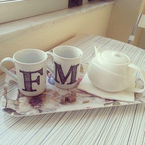 Evimizde ilk çay keyfimiz:)