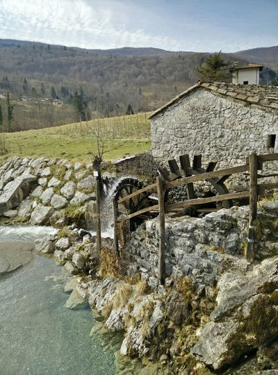 Watermill in canal