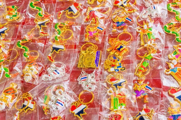 Backgrounds Full Frame Multi Colored Abstract Pattern No People Close-up Sequin Day Outdoors อยุธยา พวกกุญแจ ของสะสม ของฝาก สีสัน