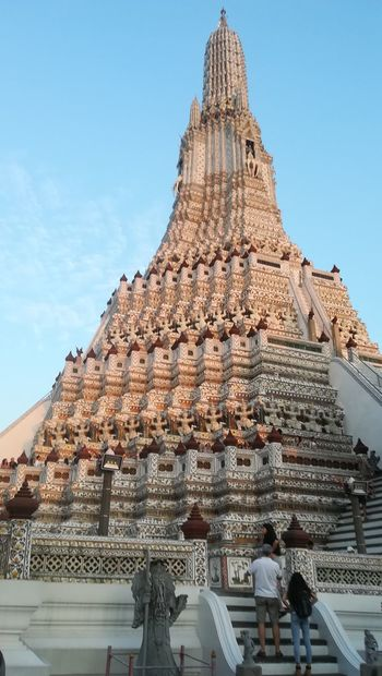 Here in Bangkok.. ASIA Travel Photography Travel Destinations Religion Pagoda Architecture Tourism Travel Ancient Ancient Civilization Outdoors History Vacations Low Angle View Lifestyles Spirituality Built Structure Place Of Worship